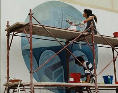 Berchidda Jazz Festival- mural. ITALIA